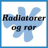 Radiatorer og rør